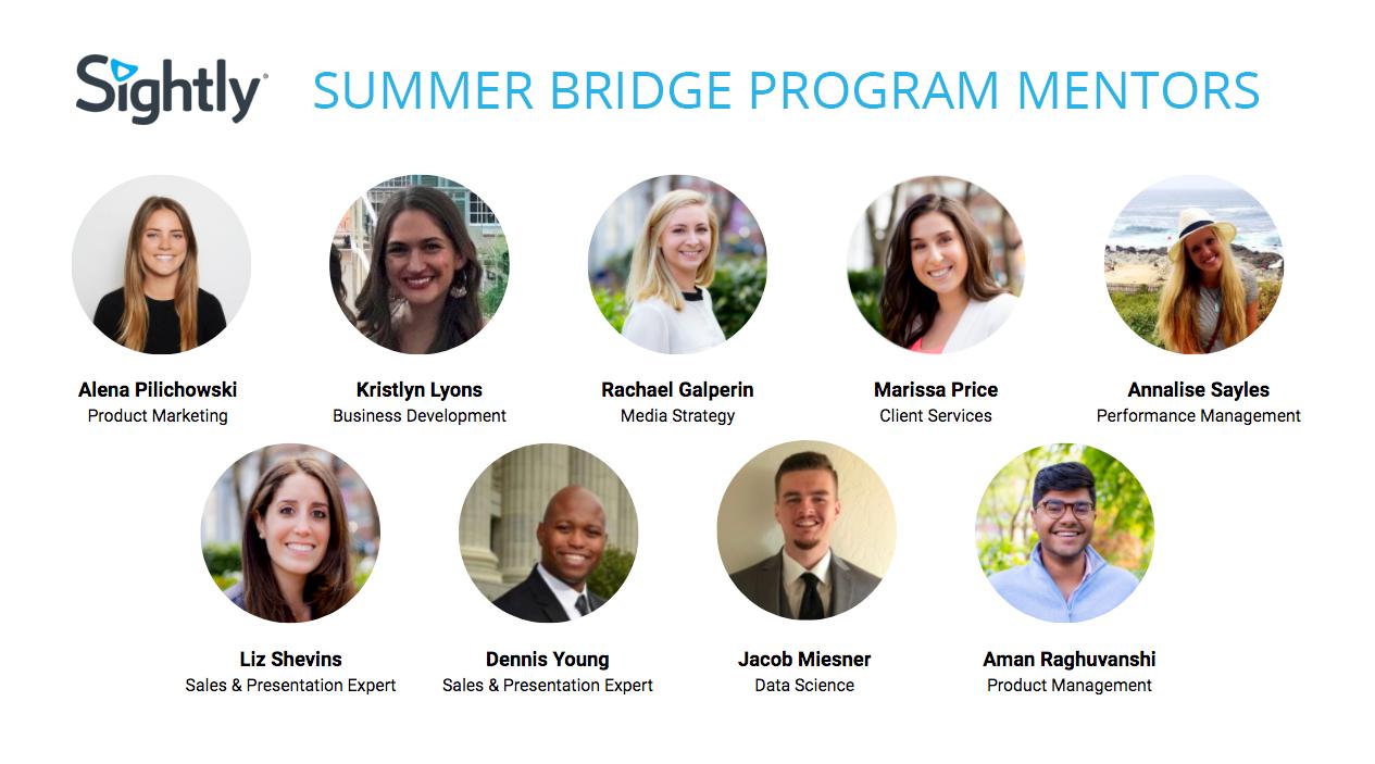 Sightly Summer Bridge Program Mentors